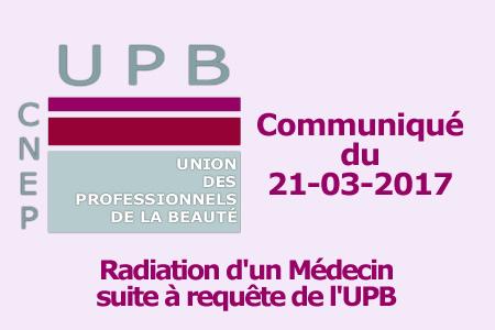 Radiation d'un Médecin pour complicité d'exercice illégal de la médecine
