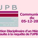 Sanction Disciplinaire d'un médecin suite à requête UPB