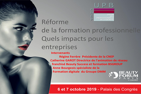 Conférence BeautyForum 2019: Impact de la réforme de la formation pro