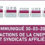 Actions de la CNEP et ses syndicats affiliés UPB / UME/ UMM/ FFEEP