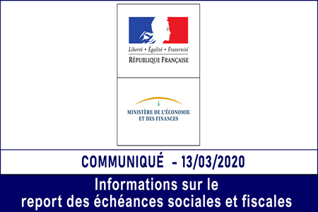 Report des échéances sociales et fiscales