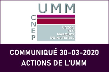 ACTIONS DE L'UMM