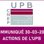ACTIONS DE L'UPB