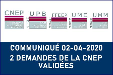 DEUX DEMANDES DE LA CNEP VALIDÉES PAR LE CONSEIL DES MINISTRES