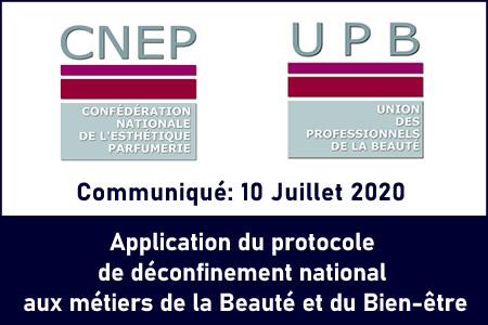 Application du protocole de déconfinement national applicable aux métiers de la Beauté et du Bien-être