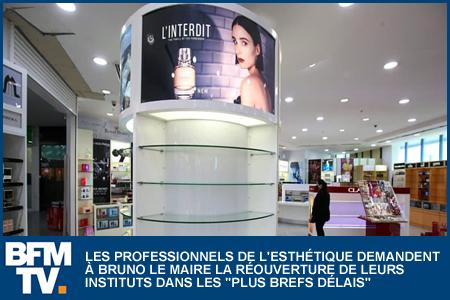 LES PROFESSIONNELS DE L'ESTHÉTIQUE DEMANDENT LA RÉOUVERTURE DE LEURS INSTITUTS DANS LES «PLUS BREFS DÉLAIS»