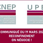 19 MARS 2021 – RECONFINEMENT: ON NÉGOCIE